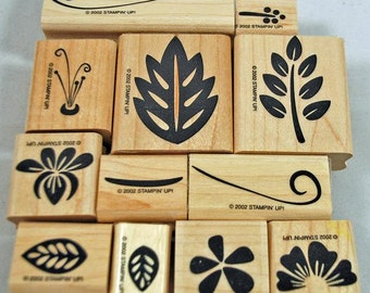 Retired Stampin Up Stamp Set Tropical Blossoms