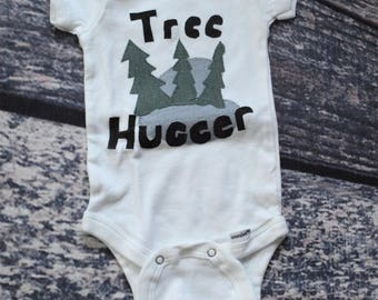Handmade Onesie - Tree Hugger