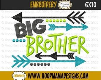 Big Brother - Family Shirt  - Embroidered Tee Shirt - Customizable Sibling tee 43