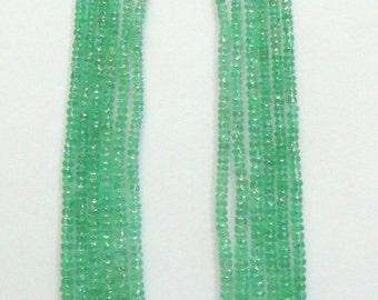 6 strand Colombian Emerald Gemstone Beads Necklace