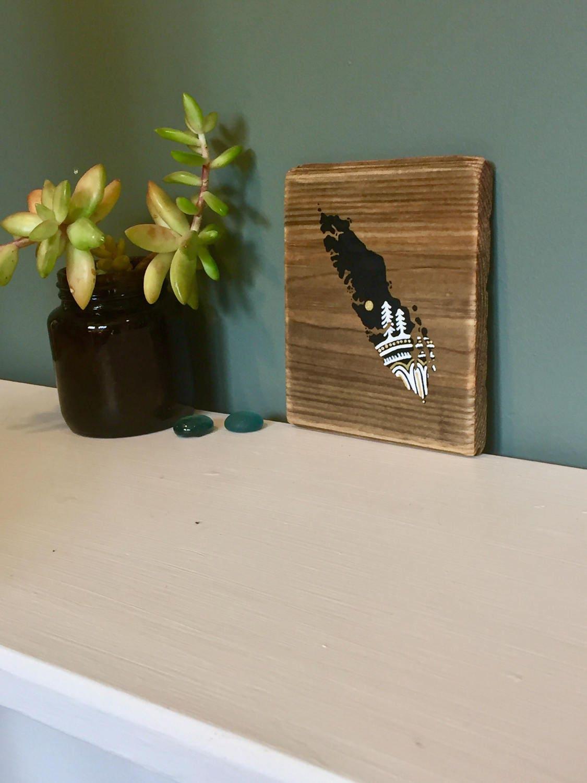 Sitka Mandala Island in Black Mini Reclaimed Wood Wall Art