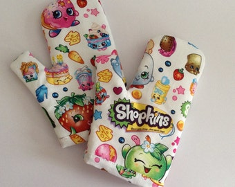 Toddler / Child Play Oven Mitts Set of Two Cushioned and Lined