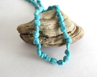 Sleeping Beauty Turquoise (5) Nuggets Beads Genuine Blue Semiprecious Stone Natural Wholesale Jewelry Supply CrazyCoolStuff