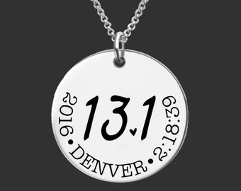 13.1 Necklace | Half Marathon Necklace | Marathon Gifts | Runner Gift | Half Marathon Jewelry | Custom Personalized Necklace | Korena Loves