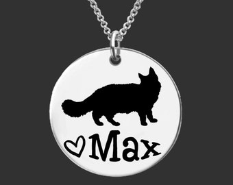 Maine Coon Cat | Cat Pendant | Cat Lover | Cat Jewelry | Cat Necklace | Cat Gift | Personalized Gifts | Korena Loves
