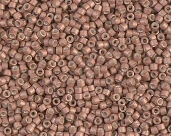11/0 Miyuki Delica Seed Beads DB1165 - Matte Metallic Silver Gray Delica 1165 - 6 Grams - Delica ...