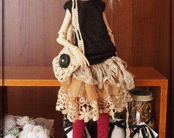 Swan20 Designs OOAK outfit 2016/014 for SLim Doll Chateau MSD Doll BJD Dollfie