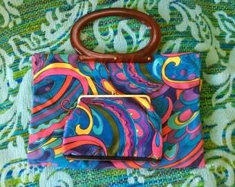 60s Psychedelic Handbag & Clutch