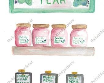 Prickly Pear Store Watercolor Original Painting