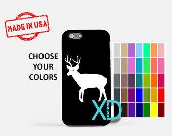 Simple Deer iPhone Case, Buck iPhone Case, Deer iPhone 8 Case, iPhone 6s Case, iPhone 7 Case, Phone Case, iPhone X Case, SE Case