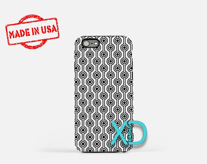 Target Phone Case, Target iPhone Case, Round iPhone 7 Case, Black, White, Round iPhone 8 Case, Target Tough Case, Clear Case, Retro