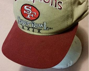 VINTAGE San Francisco 49'ers Super Bowl XXIX Snapback Adjustable Hat