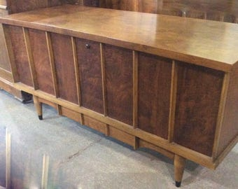 MCM Lane Cedar Chest Walnut book matched veneer with drawer