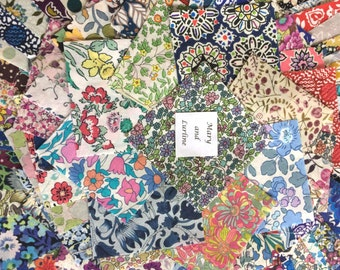 100 x 2.5 inch Squares Lucky Dip Pack of Liberty London Tana Lawn