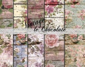 Scrapbook Paper, Digital Wallpaper Textures, Photo Background Paper, Shabby Chic Roses, Digital Grungy Textures. No. P186