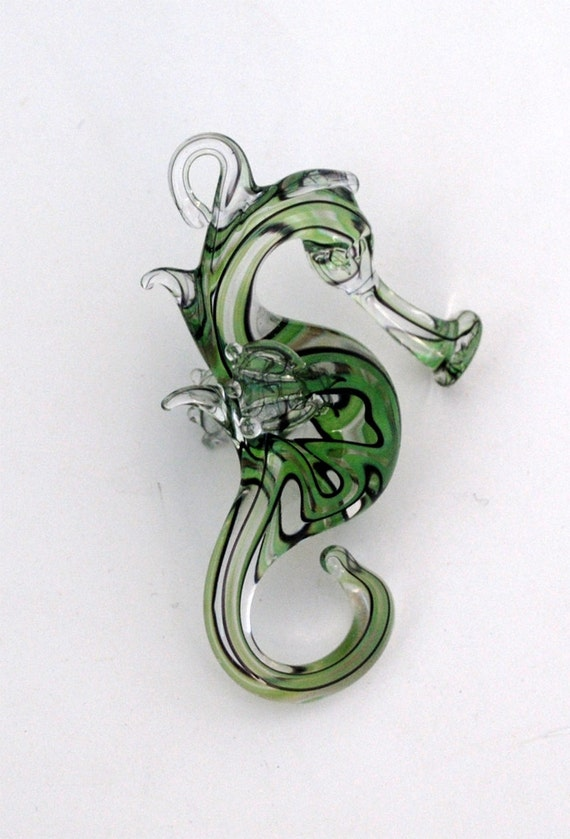 Green Stripe Seahorse