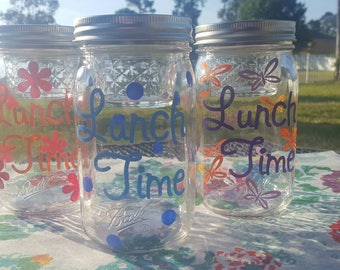 PERFECTLY PAIRED -Ball  Mason Jar in a Jar  - Lunch time Jar- Great for Mason Jar Salads - Mason Jar Gifts