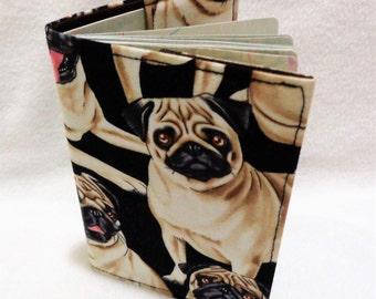Pug - Pugs Fabric Design Passport Cover - Fabric Passport Holder - Fabric Passport Case - Travel Wallet