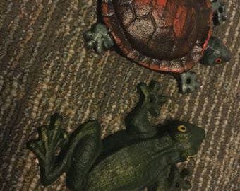 Cast Iron Turtle or Frog Wall Hook