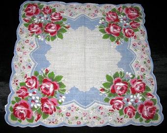 Vintage Handkerchief, Shabby Chic Hankies Vintage Hankerchief Rolled Edge