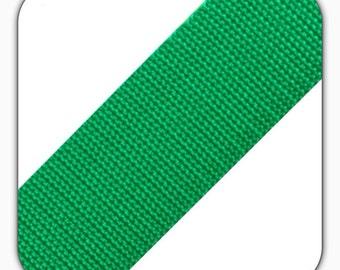 Polypropylene webbing, width 40 mm, green, bag accessories