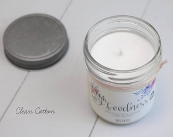 CLEAN COTTON 8oz | Hand-Poured Soy Wax