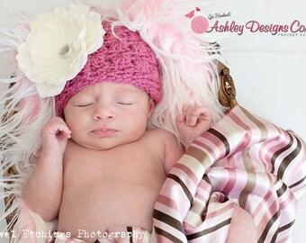 Crochet Pattern Primrose Beanie (Newborn - Adult)- PDF - Instant Digital Download