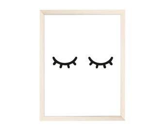 Art Print Tired Eyes