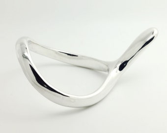 Solid Silver 925 Super Ergonomic Cock Ring