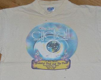 1984 The GRATEFUL DEAD & The BAND vintage original concert tour rock music t-shirt (L/X-L) X-Large 80's 1980's tee tshirt Jerry Garcia Gift