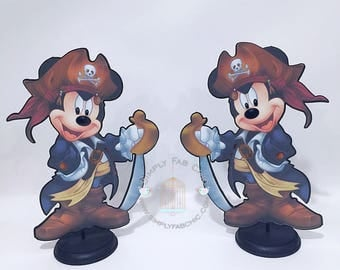Pirate Mickey Mouse Centerpiece / Table Decor | Pirate Mickey Centerpiece