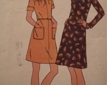 Vintage Butterick 3325 Sewing Pattern Size 38 Bust 42 Semi-Fitted Dress