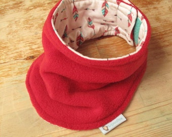 Velcro Neck Warmer, Children's Neck warmer, Neck warmer Canada, Neck Warmer Child, Red Neck Warmer, Fleece Neck warmer, Kids Neck warmer
