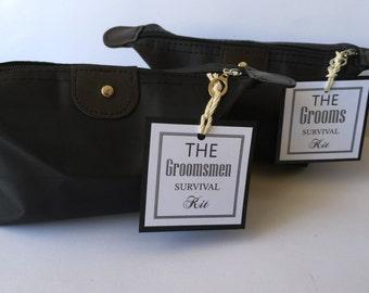 Groom or Groomsmen Survival Kit! Wedding Day emergency kit Thank you gift