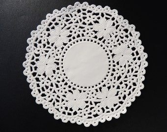 "4.5"" and 5.5"" WHITE Crochet PAPER Lace DOILIES 