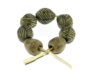 RESERVED FOR METTE - Seed Pod Beads Artisan Bead Set Handmade in South Africa