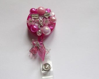 Pink Breast Cancer Awarness Badge Reel