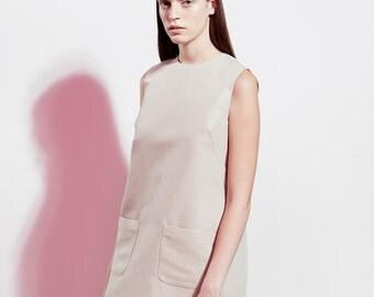 Elegant Linen Dress / Summer Dress / Midi Dress / Comfort Linen Dress / Pocket Dress / Casual Sleeveless Dress / Loose Spring Dress