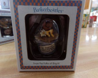 Boyds Bear Basketberries FLORA Bear NIB
