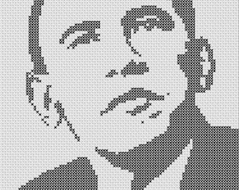 Thanks Obama X-Stitch President Barack Obama PDF Pattern