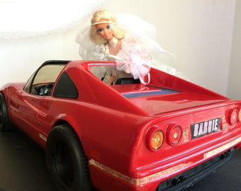 1986 Barbie Red Ferrari by Mattel Toy