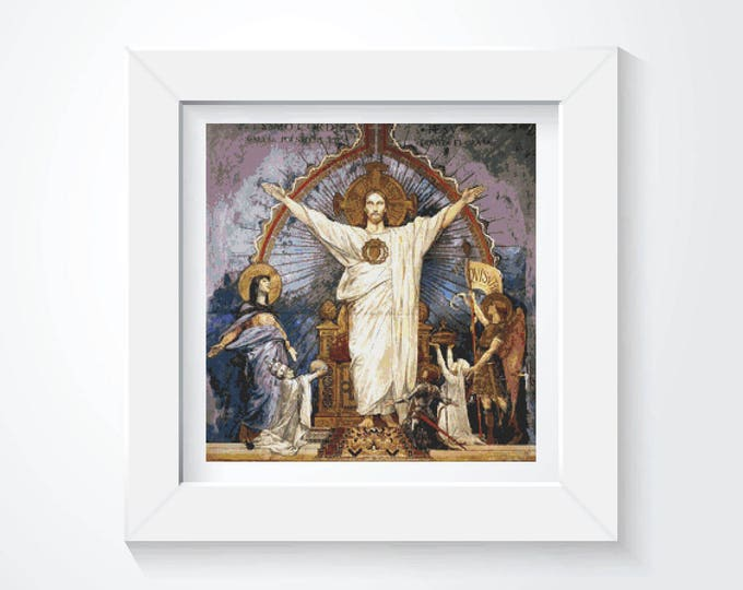 Cross Stitch Kit, Embroidery Kit, Art Cross Stitch, Joan of Arc Before God by Luc-Olivier Merson (MERSO01)