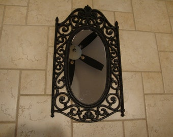 Syroco Hammered Look Mideval Goth Wall Mirror