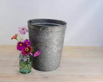 Vintage Galvanized Bucket, Maple Syrup Bucket