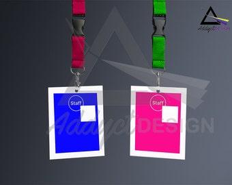 ID Card Holder Mockup Template | Photoshop Mockup | Badge Template | Badge Mock up - Marmalead - Gafete - MockUP branding - ID Badge Holder