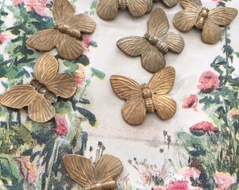 Vintage Butterfly Finding, Butterfly Charm, Small Butterfly Finding, 18 x 18mm, 12Pcs