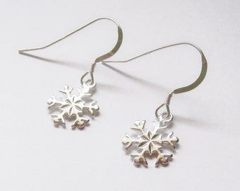 Snowflake, Snow, Sterling Silver Snowflake earrings, Snowflake earrings, winter earrings, snow earrings, winter,