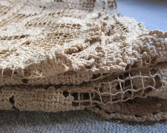 AnTique Filet Lace Long Runner Panel Scarf