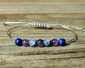 Sagittarius Energy, Amethyst Bracelet, Sodalite Bracelet, Lapis Bracelet, Sagittarius Zodiac, Meditation, Third Eye Chakra, Yoga Bracelet