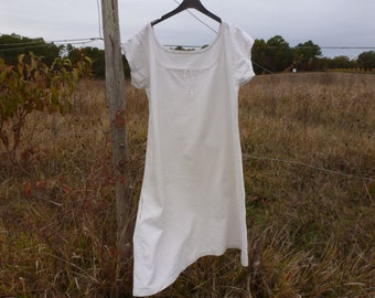 Antique french  creamy white linen chemise